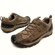 Keen Zion Men's Sz 12 Eu46 Brown Leather Hiking Trail Shoes Low Top Lace Up EUC