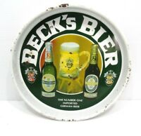 """Vintage Beck's Bier Beer Number One Imported German Beer 13"""" Bar Metal Tray"""