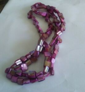 Pink & Purple Bead Chain Necklace