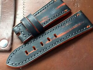 28mm* 24mm Handmade leather watch strap, for Sevenfriday watch, short size