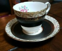 Royal Stafford  Bone China Cup & Saucer - Gold Trim
