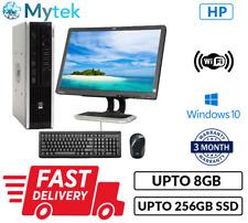 """HP Compaq 8000 USFF Intel C2D PC Set 19"""" TFT 8GB Ram DDR3 256GB SSD DVDRW WiFi"""