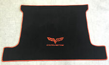 Autoteppich Kofferraum Trunkmat für Corvette C6 Coupe schwarz orange 1tlg Neu