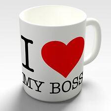 I Love My Boss Novelty Coffee Mug