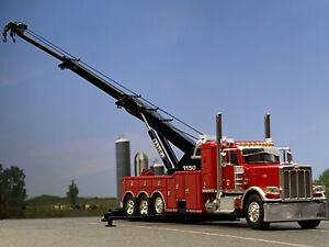 "1/64 DCP RED PETERBILT 389 W/ 36"" SLEEPER & CENTURY 1150 ROTATOR WRECKER"
