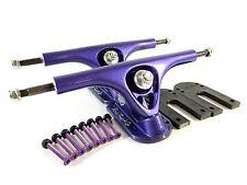"Paris 180mm V2 Longboard Purple Trucks + Paris 1/8"" Riser Pad + 1.25"" Hardware"