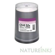 100 Ritek Excellence Series Diamond Dye White Printable 700MB Blank CD 52x Discs