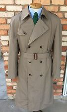 Vintage CHRISTIAN DIOR Lined Men's Top Trench Over Coat Rain 42 Long (M/L Tall)