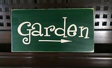 Garden with Arrow Wall Decor Sign Plaque Gardner