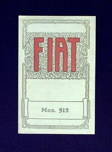 AUTOMOBILISMO - FIAT  Modello 512 -  Dépliant pieghevole pubblicitario - 1925.