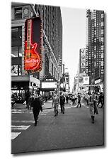 Leinwand Bild New York Manhattan Hard Rock Cafe SW Rot Nacht Farben Street Cult