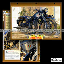 #100.01 Fiche Moto GNOME & RHÔNE 500 D5 A 1936-40 Classic Bike Motorcycle Card
