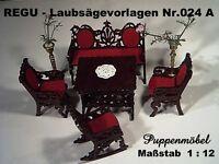 Puppenmöbel 1 : 12 selbst gemacht - Laubsägevorlagen von REGU - Laubsägevorlagen