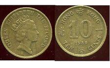 HONG KONG  10 ten cents 1989  ( bis )