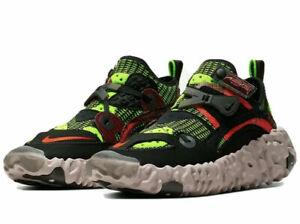 Nike Overreact Flyknit ISPA Black Hyper Crimson Volt CD9664 001 Men's Sizes