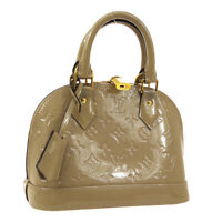 LOUIS VUITTON ALMA BB 2WAY HAND BAG DUNE PURSE MONOGRAM VERNIS M90175 AK44715