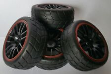 1/10 RC Car on road/touring Wheels & Tyres x4 block tread