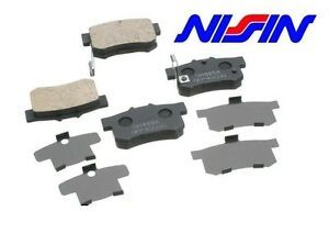For Honda Acura OEM Nissin Rear Brake Pads w/ Shims 43022-S84-A50