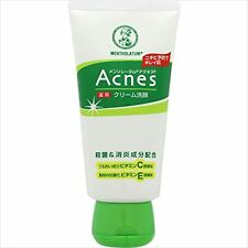 MENTHOLATUM Acnes Medicated Cream Face Wash 130 g with Vitamin C/E JAPAN F/S