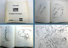 Triumph Toledo Graphic Catalogue Spare Parts List 1970