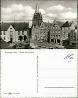 Ansichtskarte Warendorf Auto Parkplatz am Markt mit Rathaus 1965