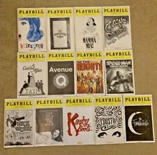 Playbills - Lot  of 13 NYC Broadway & Off-Broadway Playbills - from 2007-2013