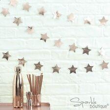 ROSE GOLD METALLIC STAR BUNTING - Festive Christmas Garland/Hanging Decoration