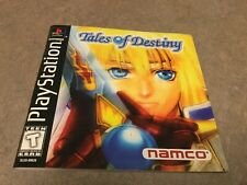 Tales of Destiny (Sony PlayStation 1, 1998) Instruction Booklet Only