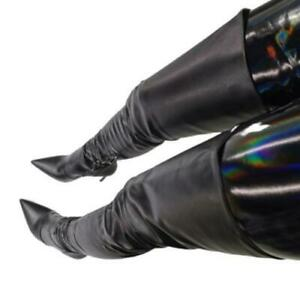New Women's Stretch Thigh High Boots Ladies Over The Knee Long High Heel Shoes L
