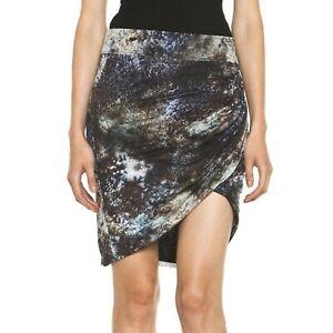 HELMUT LANG Oxide Star Twist  Draped Asymmetrical Short Skirt L EUC TTCB