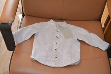 blouse neuve cyrillus 55% de lin 9 mois beige raye tres chic garçonnet