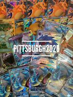 Pokemon Card Lot 100 OFFICIAL TCG Cards Ultra Rare Included - GX EX MEGA OR V!!