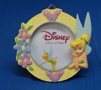 Tinker Bell Kneeling Purple Border with Flowers Picture Frame Disney Enesco