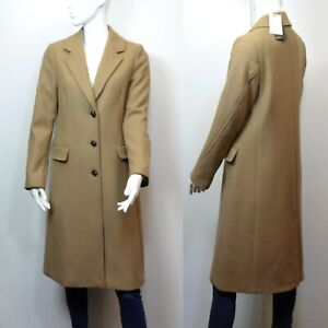 M&S AUTOGRAPH Italian WOOL & CASHMERE Tailored COAT ~ Size 10 ~ CAMEL (rrp £149)