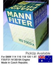 Genuine Mann HU7003x Premium Oil Filter BMW 1 Series N13B16A, Ryco ref R2728P