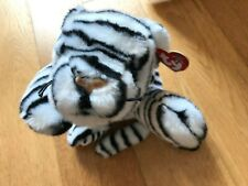 "Ty Beanie Buddies WHITE TIGER Black/White Stripe VGC, with swing tag 13"" + Tail"