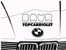 BMW E30 323i BAUR TC ORIGINAL 1983 OWNERS INSTRUCTION HANDBOOK SUPPLEMENT