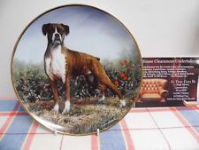 "Danbury Mint Plate by Simon Mendez "" Standing Proud "" The Boxer Dog"