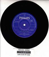 """LUV  Trojan Horse 7"""" 45 rpm vinyl record + juke box title strip RARE!"""
