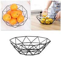 Kitchen Metal Food Basket Iron Wire Mesh Fruit Bowl Dish Vegetable Organizer