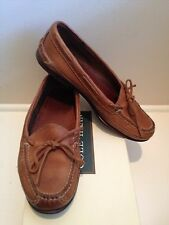 COLE HAAN Womens Robyn Loafers Saddle Tan 8 B - EUC With Box $185!!!