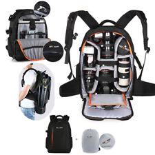K&F Concept DSLR Camera Backpack Bag Case Waterproof For Canon Nikon Rain Cover