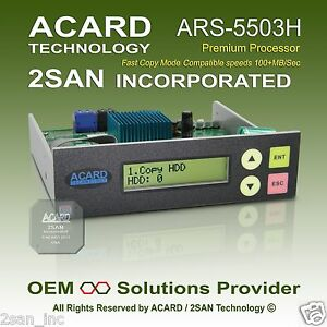 ACARD ARS-5503H 1-to-3 SATA HDD/SSD/DOM Duplicator Controller (100MB/Sec)