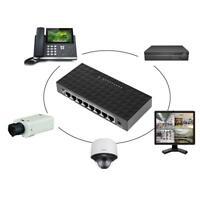 8-Port Network Switch 10/100Mbps Gigabit LAN POE Ethernet HUB Desktop Adapter