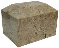 Large/Adult 190 Cubic Inch Fossil Stone Marble Funeral Cremation Urn for Ashes