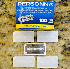 5 Personna Lab Super Blue Stainless Double Edge Razor Blades
