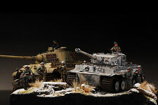 Award Winner Built 1/35 Huge Kingtiger &Tiger Winter Eastern Front Diorama+PE