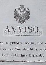 ANTICO EDITTO_ENOLOGIA_VINO_ISTRIA_VENEZIA_ALBERTI_STEMMA ARALDICO_DECORATIVO