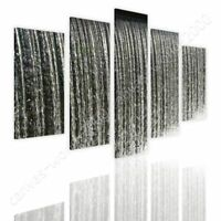 Natural Water Waterfall by Split 5 Panels | Ready to hang canvas | 5 Panels Wall