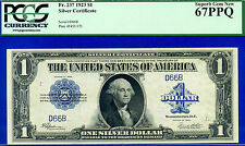 *Amazing! FR-237 1923 $1 S/C (( 2 Digit Serial # 66 )) PCGG Superb-Gem 67PPQ